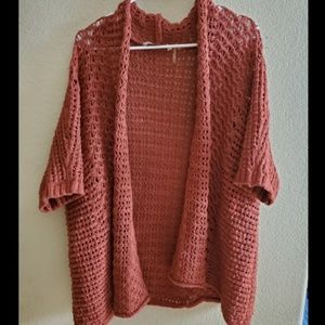 Soft Surroundings Open Front Yarn Knit Cardigan